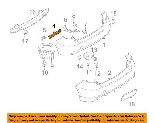 SUBARU OEM 08-11 Impreza Rear Bumper-Upper Bracket Left 57717FG012