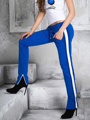 By Alina Damenhose Jogginghose Boyfriendhose Röhrenhose Trackpants Jogpants Blau