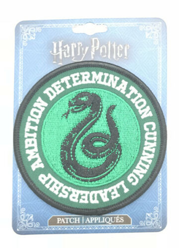 HARRY POTTER SLYTHERIN CREST IRON ON PATCH OFFICIALLY LICENSED FREE SHIPPING US