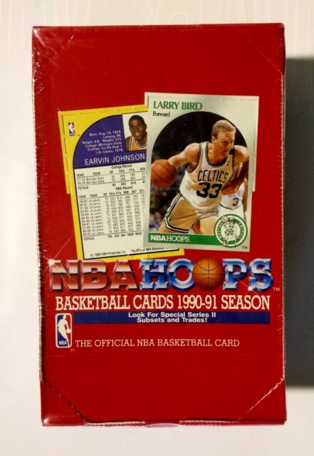 1990 Hoops Basketball series 2 NBA Basketball (36 pk) Card Box factory sealed
