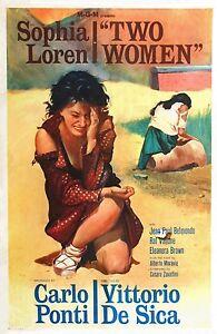 DUE-Donna-sophia-LOREN-VINTAGE-POSTER-DEL-FILM-MISURE-A1-A2-A3-A4