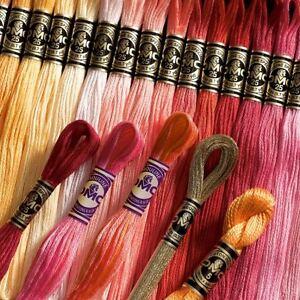 VAT Free DMC 1 Skein Stranded Cotton Cross Stitch Thread Numbers 972-3051 New
