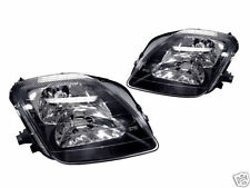 HONDA PRELUDE 1997-2001 BLACK HEADLIGHTS HEAD LIGHTS FRONT LAMPS PAIR