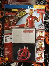Marvel Avengers Age of Ultron Ironman Muscle Chest Deluxe Costume 10-12 + Bonus