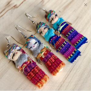 Native-Guatemalan-Worry-dolls-earrings-Handmade-earrings