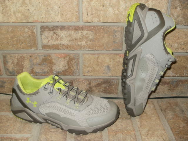 New Under Armour Ladys Glenrock Low Hiking Shoe / gris -Lime 1257699 2018  110