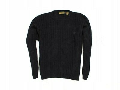 *j Timberland Mens Sweather Cotton Jumper Black M