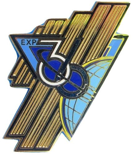 AB Emblem NASA PATCH /& PIN vtg International SPACE STATION ISS Expedition 36