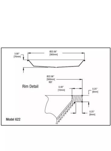 "Lexalite 622 Round High Bay Plastic Clear Light Cover 22/"" Diameter Brand New"