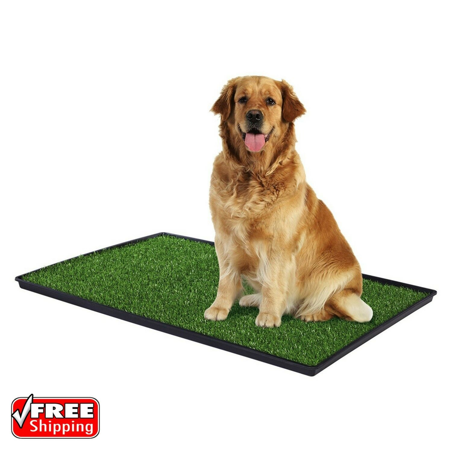 Dog Potty Training Mat Turf Grass Pee Pad Indoor Pet Patch Portable Large 41