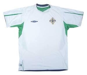 Irlanda del Nord 2004-05 ORIGINALE AWAY SHIRT (eccellente) L soccer jersey