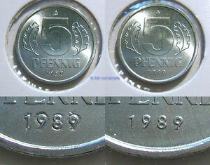 DDR-5-Pfennig-1989-mit-geaenderter-Jahreszahl-Erhaltung-zur-Auswahl