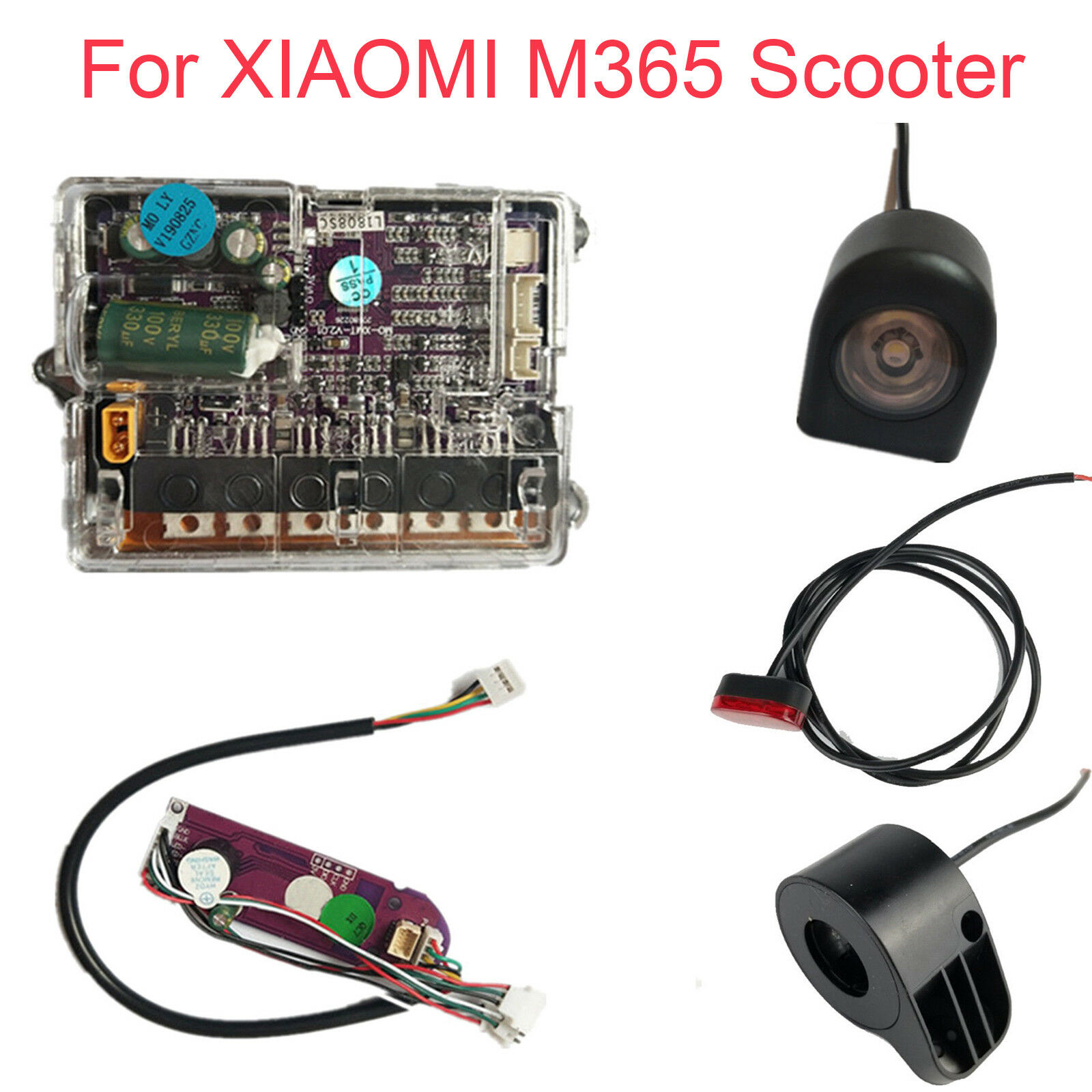 Motherboard +blueetooth board+ Headlights +Taillights + Thredtle For XIAOMI M365