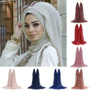 Shiny-Shimmer-Glitter-Sparkly-Plain-Colour-Scarf-Hijab-Shawl-Wrap