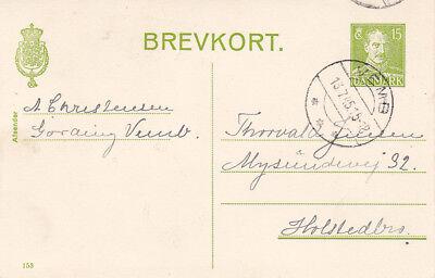 Logisch Gs_275 Postkarte P219 Kz 153 Aus Vemb => Kolstedbro Von 1945 Dänemark Briefmarken