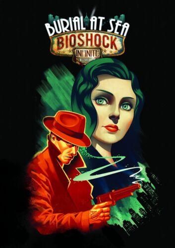 Bioshock Rapture Big Daddy Burial At Sea Infinite Columbia Game Poster Print