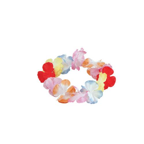 #Hawaiian Flower Lei Hula Girl Wristbands Party Accessories