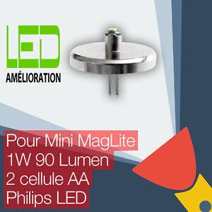 Mini-MagLite-LED-mise-a-niveau-ampoule-Torche-2AA-cellulaire-Philips-LED
