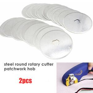 2pc-Circular-Rotary-Cutter-Blades-45mm-Steel-Cutting-Patchwork-Hob-A