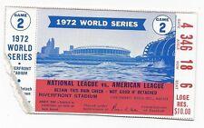 1972 World Series ticket Oakland A's Cincinnati Reds Game 2 Catfish WIN, tear