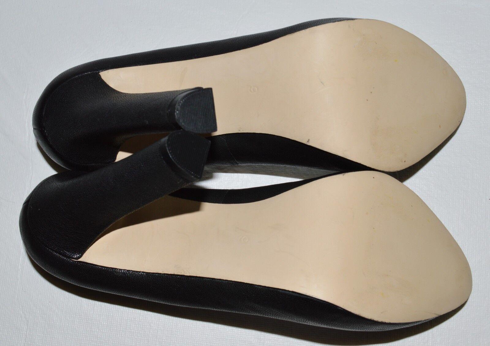 DV DOLCE VITA NEW SZ 9  BLACK LEATHER PLATFORM PUMPS  9 heels schuhe 02564d