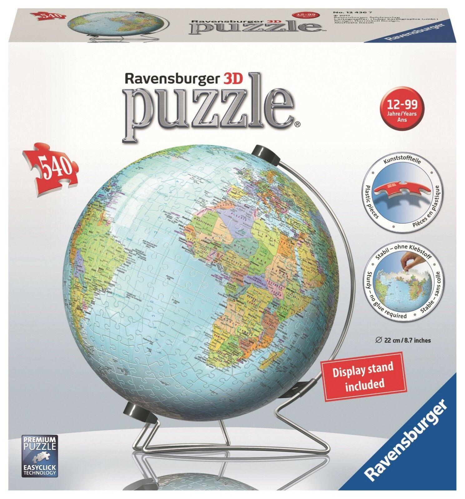 Puzzle 3D  Ravensburger 12436 Globo Terraqueo 540p   Earth Globe 3D Jigsaw Puzzle  essere molto richiesto