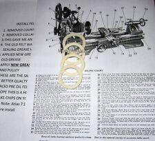 Atlas Lathe Countershaft 4 Felt Washers Part 9 111 10 Inch Lathe 7 Shaper