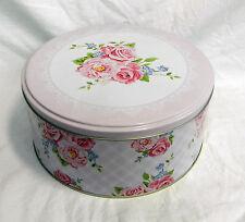 Pretty Pink Rose / Chintz Design Storage TIn / Cake Tin - SECONDS