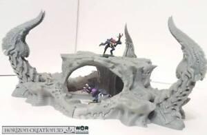 Hc3d -wor Thorn Hive- Alien Wargames Miniatures Paysage 40k 28mm 15mm