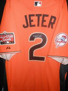 competitive price 8d625 10263 Details about DEREK JETER SIGNED 2007 ALL STAR JERSEY AUTHENTIC MAJESTIC  NEW YORK YANKEES