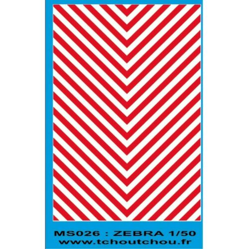 ms026 zebra blanc rouge 1//43eme et 1//50eme