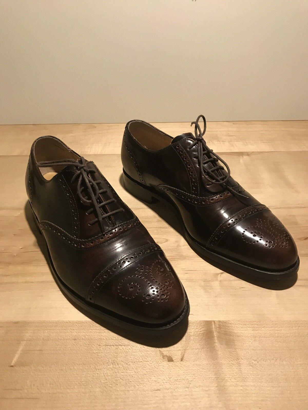Barker Schuhes Schuhe Herren Budapester Gr.42 Halbschuh Schnürschuh Herrenschuh