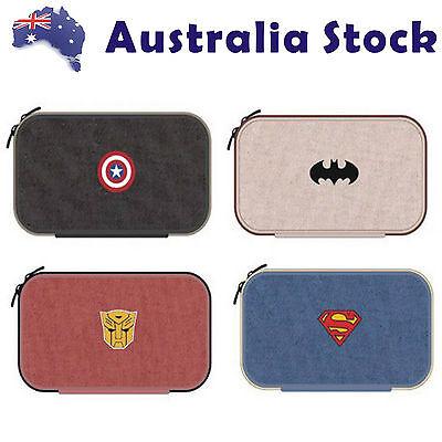 Batman Superman Captain America Transformer Pen Pencil Makeup Case Bag