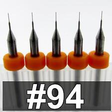 0071 94 Five Carbide Drill Bits 080 Loc Cnc Pcb Model Hobby