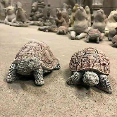 Tortoise Garden Ornaments X 2 Concrete Stone Statue Tortoises