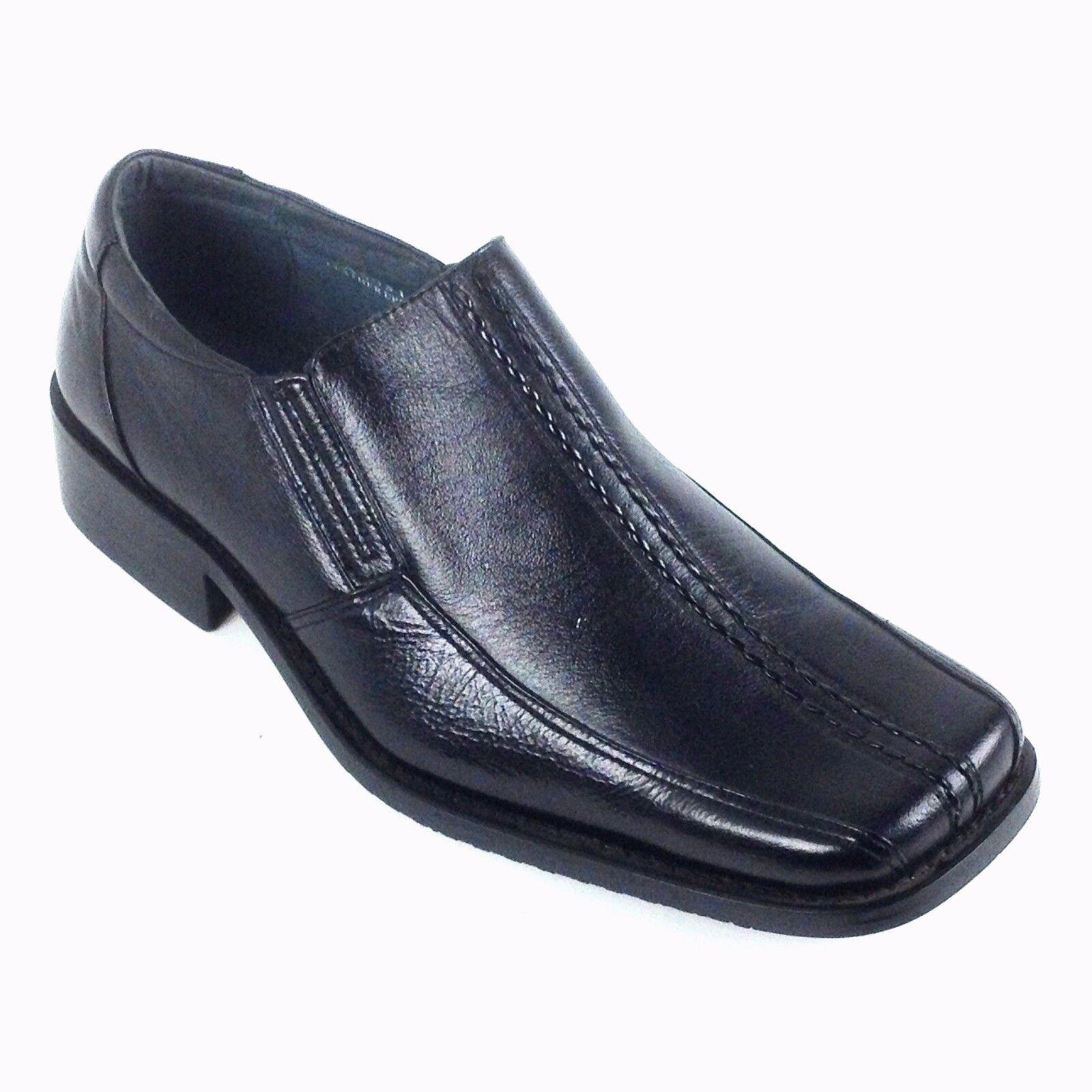 Climate Black Men's Leather Slip Dress shoes Style   A5031 Size  7.5,8.