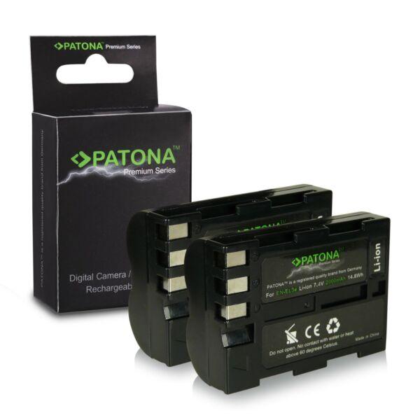 2019 DernièRe Conception X2 Batterie Pour Nikon D100 D200 D300 D300s En-ele3 Enel3e Patona Premium 2000ma