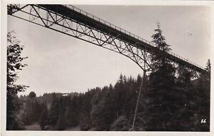 AK bei Grünenbach Argentobelbrücke Brücke Kleinformat Kartenstempel Eckabschürf.