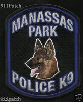 Manassas Park, Va - Virginia K-9 Canine Law Enforcement Police Patch
