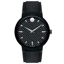 Movado 0606849 Gent's Black Carbon Fiber Dial Black Band Watch