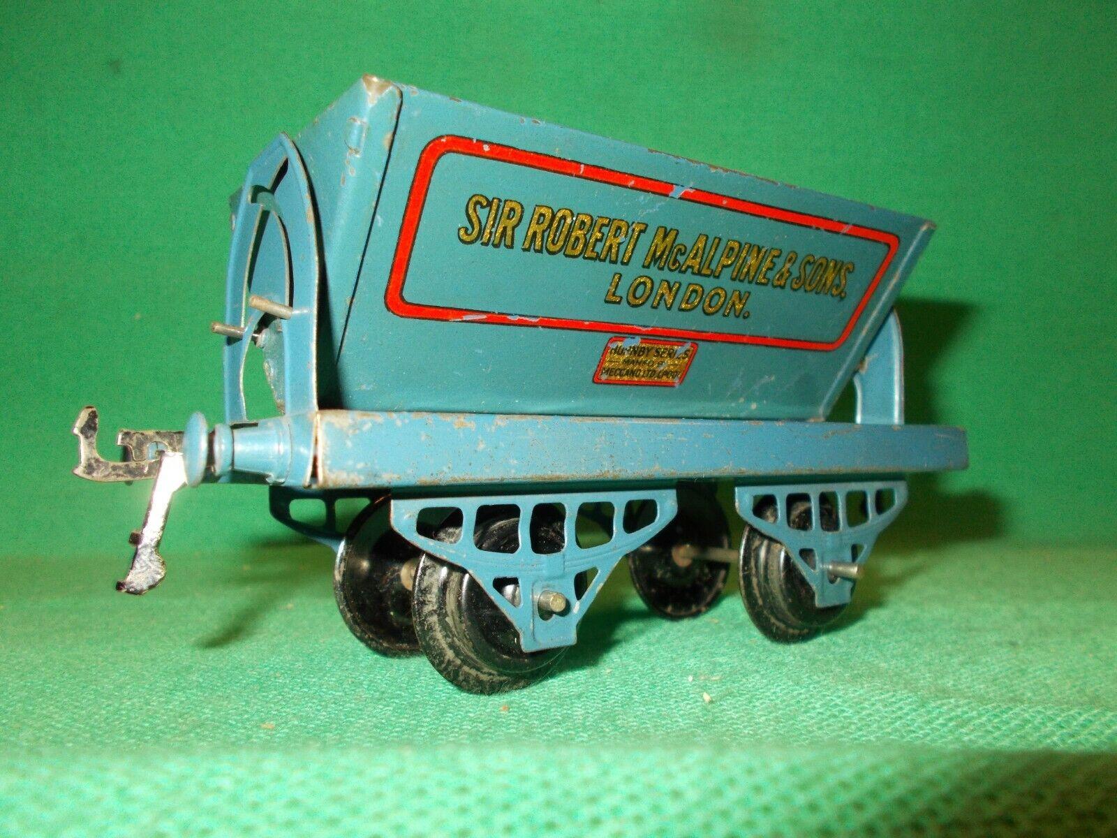 HORNBY O Gauge McAlpine SIDE TIPPER Wagon Circa 1928 Excellent 0 Gauge