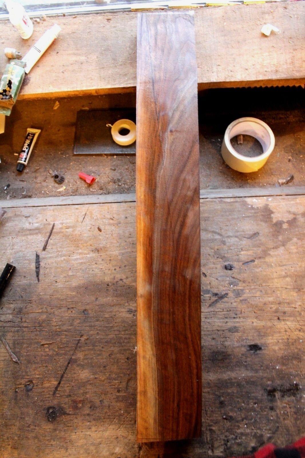 Lightly curly schwarz walnut neck blank tone-wood tone-wood tone-wood luthier craft lumber turning 946 bb6ce0