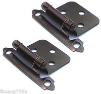 2 Pack Gatehouse Aged Bronze Surface Self Closing Cabinet Door Flush Hinges