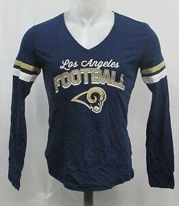Los Angeles Rams NFL Woman s Long Sleeve T-Shirt Blue S M L 2X  cf3afa4b9