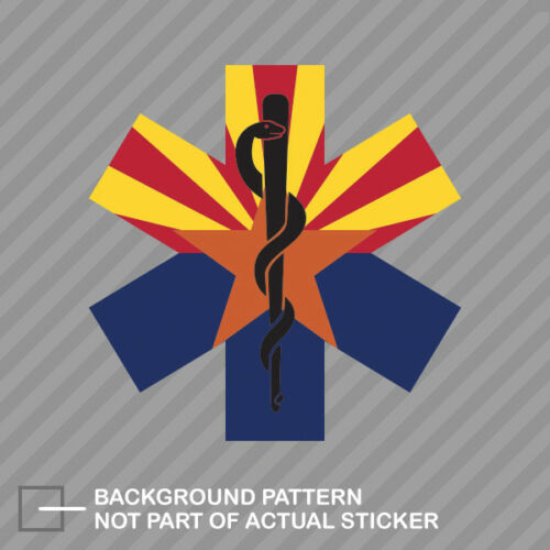 Arizona State Shaped EMT Flag Sticker Decal Vinyl EMS Paramedic AZ
