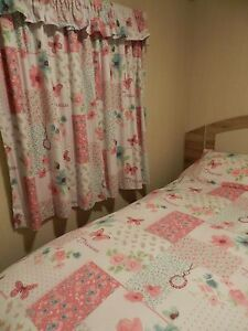 Details about STATIC CARAVAN BLACKOUT BEDROOM CURTAINS WITH PELMET AND  MATCHING BEDDING