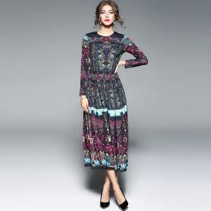 5c295336f1a1 Caricamento dell immagine in corso Elegante-vestito-abito-lungo-donna-nero- colorato-scampanato-