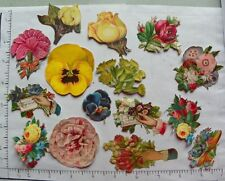 15 VARIOUS SMALL SCRAP BOOK FILL INS; FLOWERS HANDS 1686