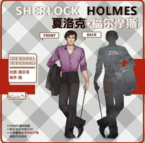 BBC TV Holmes Brothers Sherlock John·H·Watson Support Stand Decal 2-side