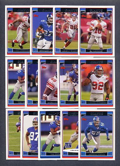 2006 Topps Football New York Giants TEAM SET Eli Manning